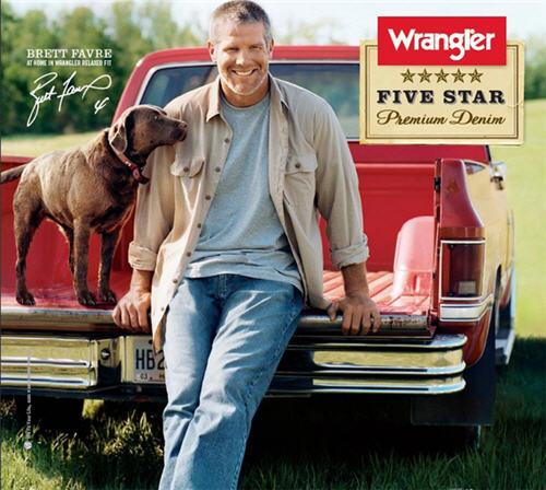 Brett Favre Wrangler Dog