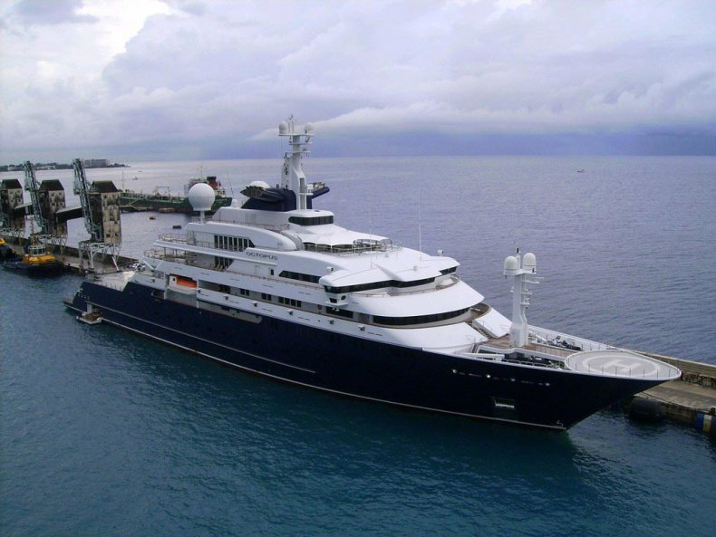 The yacht is $200 million with $384K in upkeep, but he needs your tax dollars to fix his stadium.