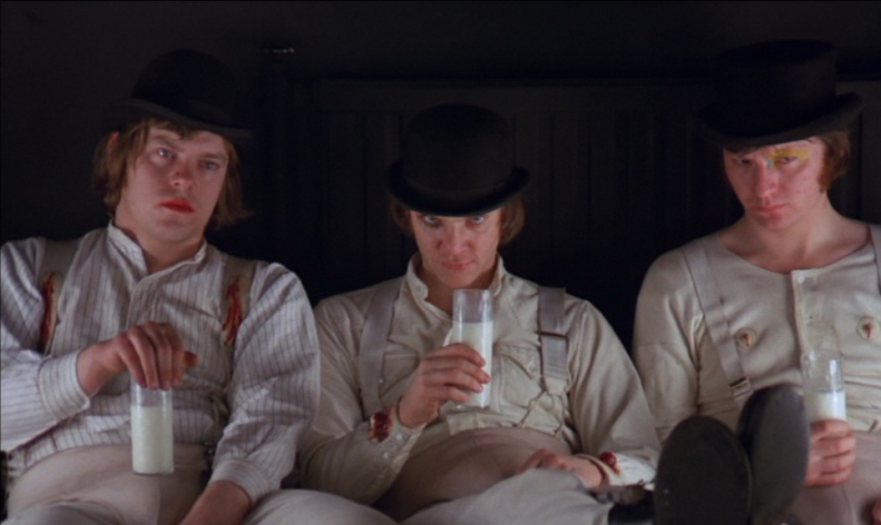 Add some ultraviolence and milk, and it's like A Clockwork Orange.